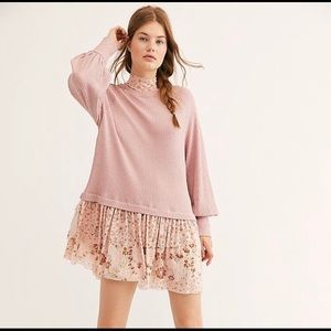 NEW FREE PEOPLE Opposites Attract Mini Dress